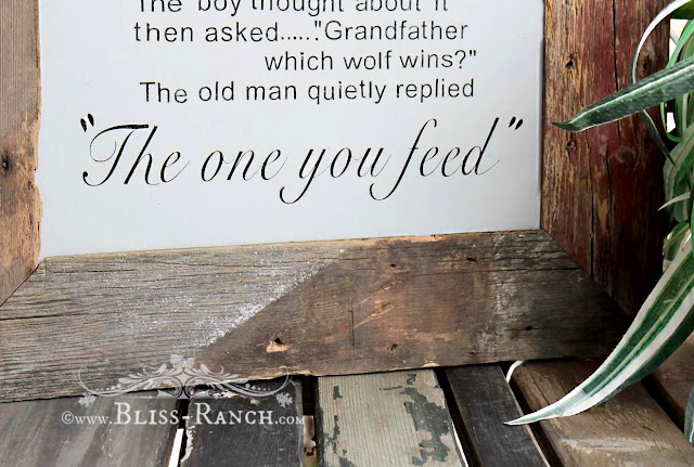 Boy Positive Quote Sign with barnwood frame, Bliss-Ranch