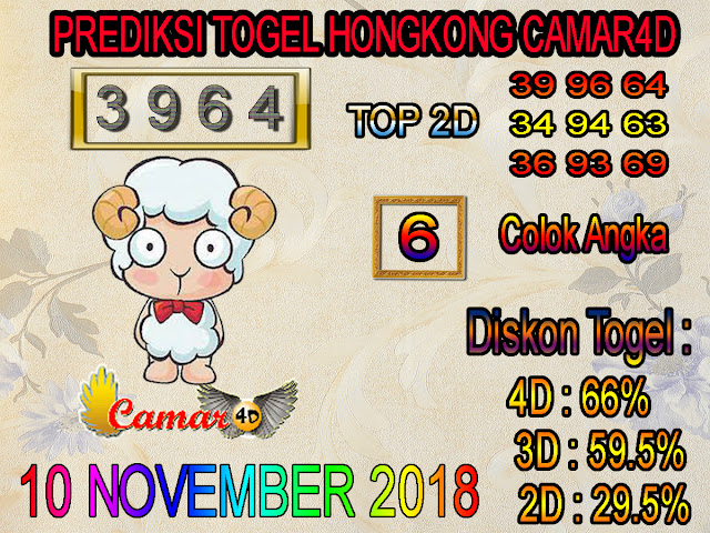 Prediksi Togel Hongkong 10 November 2018