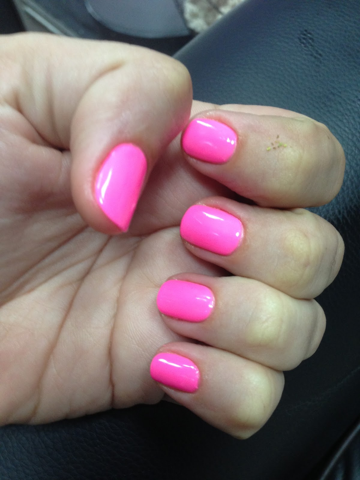 My Pink Gelish Nails