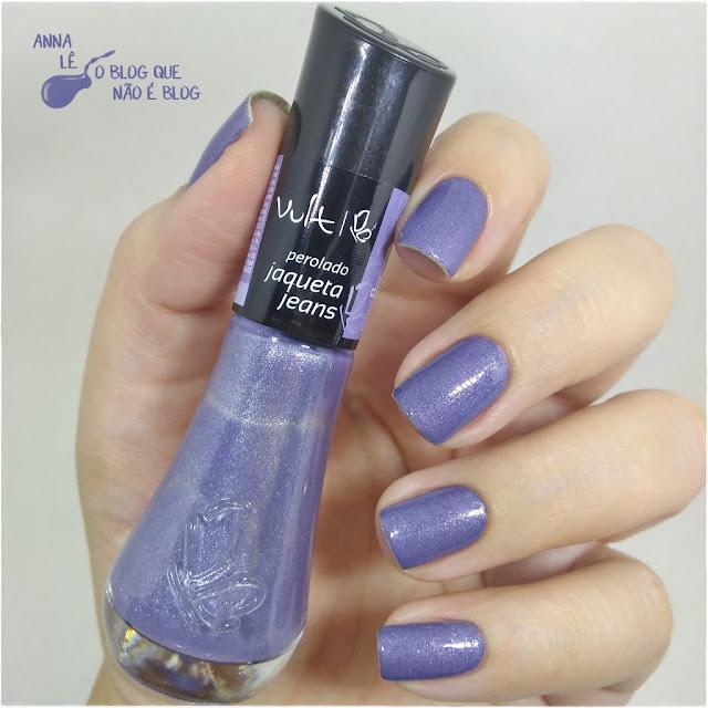 Jaqueta Jeans Vult Esmalte Nailpolish Azul Blue