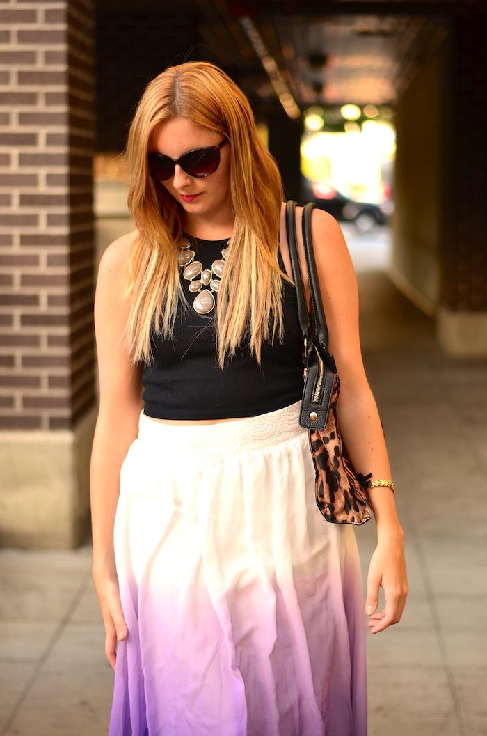 Pretty Ombre Maxi Skirt
