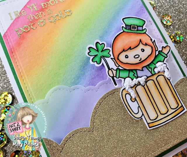 Easy Hand-painted Rainbow w/Darcie Stamps Irish Today | Not2Shabby