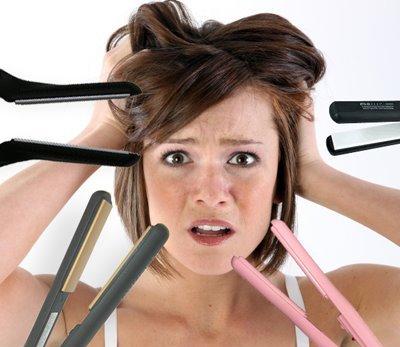 Resultado de imagen de daño al pelo por el calor