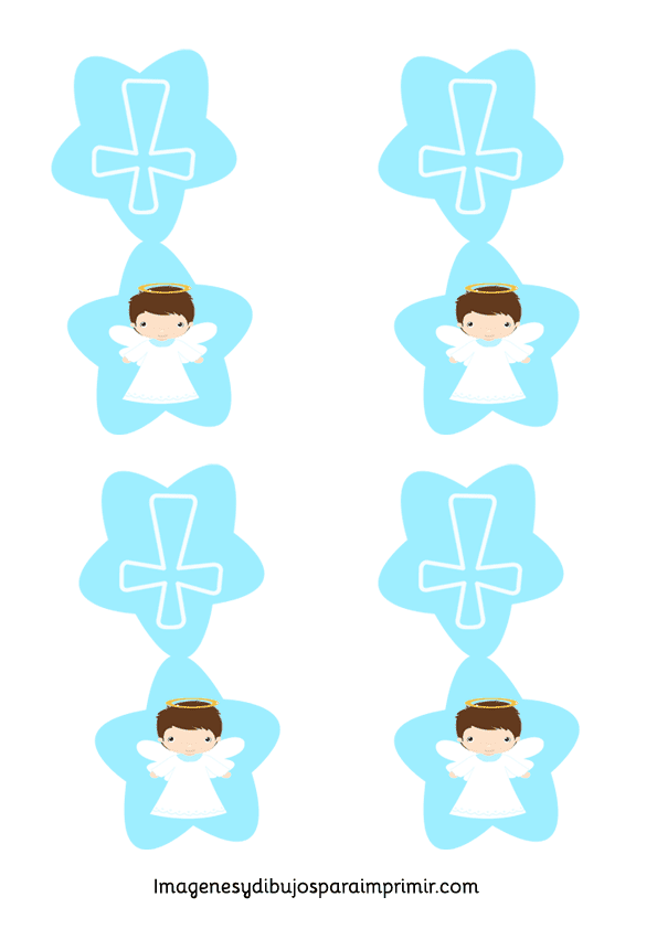 Boy First Communion Angel Free Printable Labels Toppers Or Table