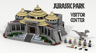LEGO Jurassic Park Visitor Center - LEGO Ideas 2016 Finalist
