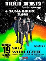 Concierto de Moon Cresta y Zuma Birds en Wurlirzer Ballroom