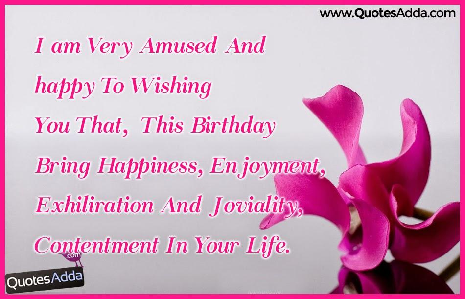 Birthday Wish In English Sms : Birthday wishes quotations for sister in law english quotesadda telugu quotes tamil