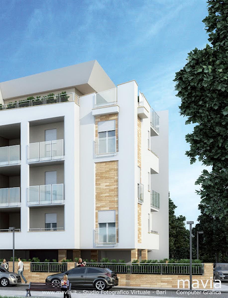 Esterni 3d rendering 3d architettura 3d rendering esterno for Progetti moderni
