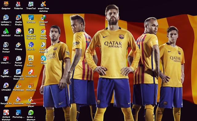 tema barcelona terbaru 2016 untuk windows 7,windows 8 Windows 8.1 dan Windows 10