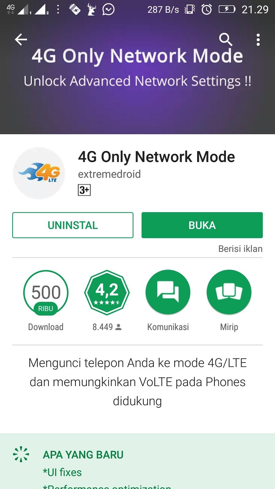 Cara Menstabilkan Koneksi 4g Android Dengan Aplikasi 4g Only Network