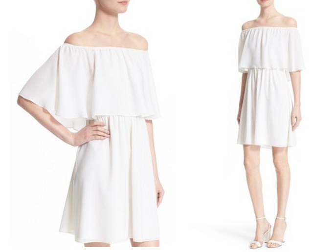 Alice + Olivia 'Shari' Off the Shoulder Silk Dress, Off shoulder dresses for Summer, Off shoulder dress, How to wear off shoulder dresses