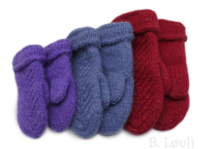 strikkeoppskrift på tova barnevotter
