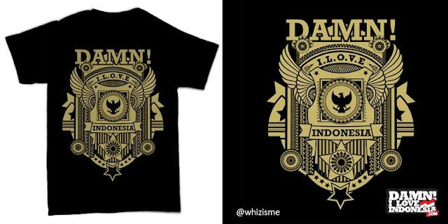 desain kaos, T shirt Design, Tshirt design Competition, Desain kaos Damn! I Love Indonesia