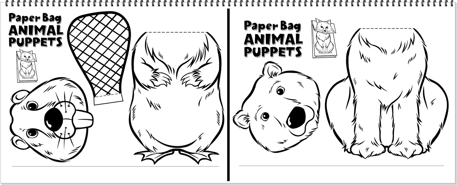 Paper animal cut for kids-Free printable - Coloring Page