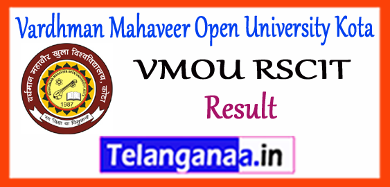 RSCIT VMOU Rajasthan State Certificate Course in Information Technology Vardhman Mahaveer Open University Result 2018 Answer Key