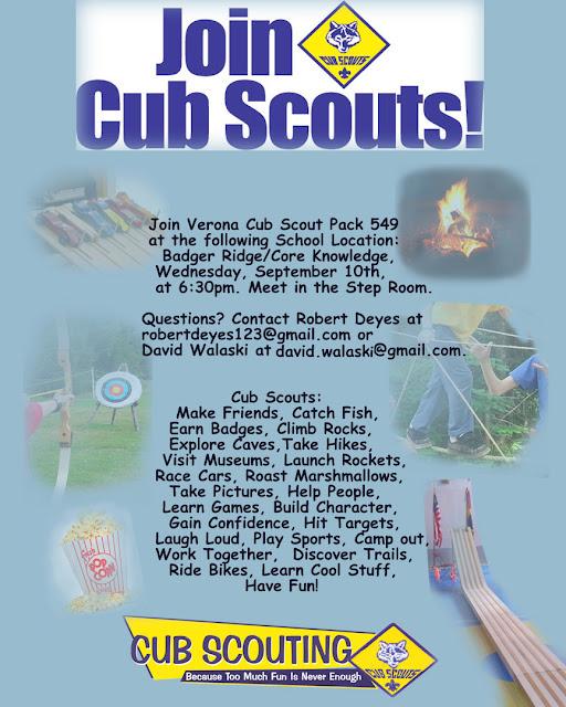 boy scout calendar template - cub scout pack 549 verona wi september 2015