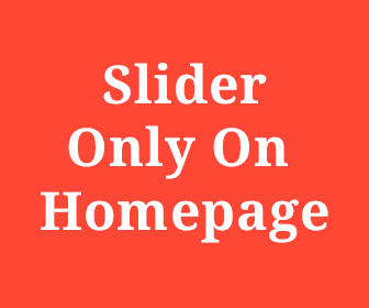 slider only on homepage