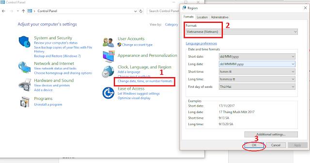Hướng dẫn cài đặt hệ thống Tiếng Việt trên Windows