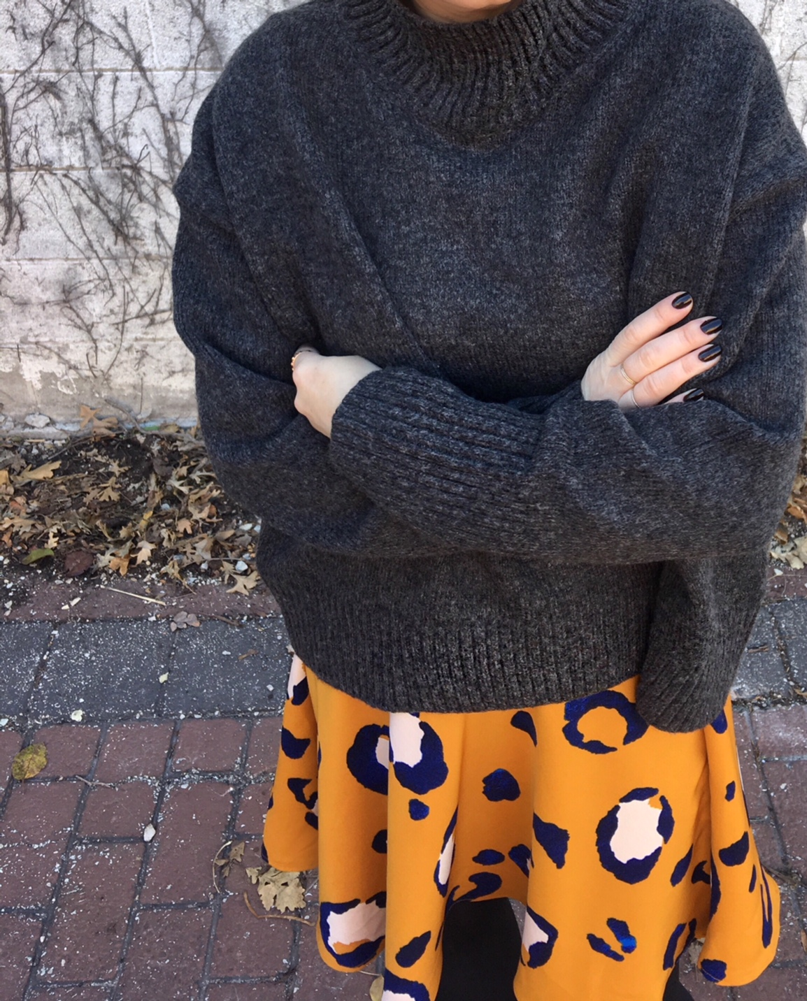 a skirt in oversize leopard print