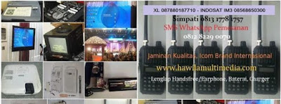 Sewa HT, Rental Handy Talky, Screen Infocus, Layar LCD Projector, Clip On, Headset Microphone Wireless Jakarta