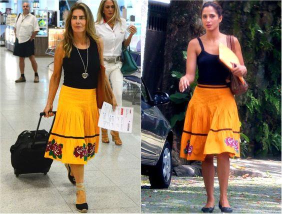 Maite Proença e Camila Pitanga par de jarros / vasos, vestido