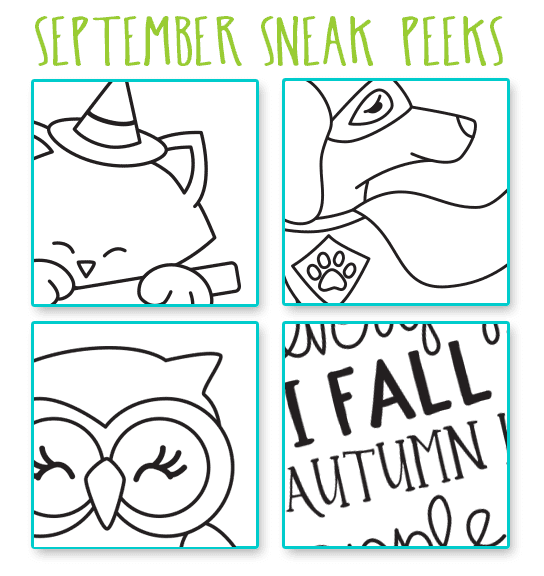 September Sneak Peeks! Stamps by Newton's Nook Designs #newtonsnook #halloween