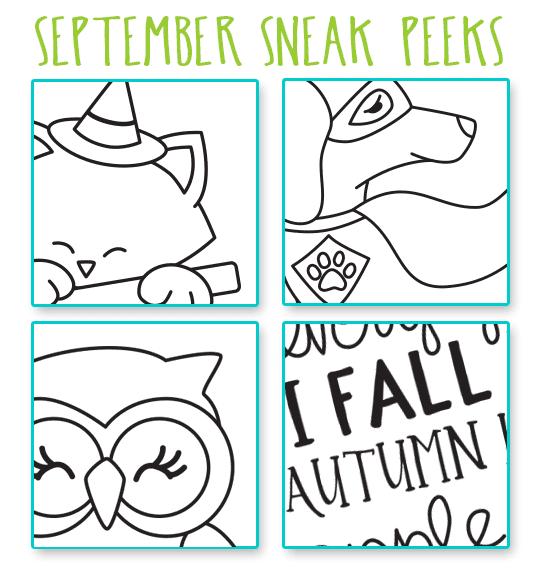 September Sneak Peeks! Stamps by Newton's Nook Designs #newtonsnook #halloween