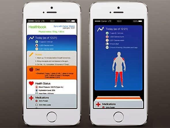new iPhone 6 HealthBook Features