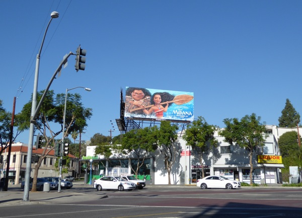 Moana film billboard