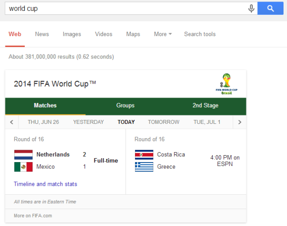 Google All Your: World Cup