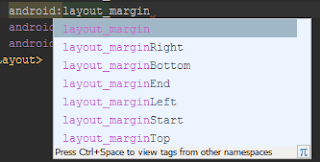 Contoh Atribut Margin Android XML Layout