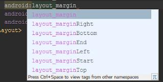 biasanya kita memakai atribut antara  Belajar Mengenal atribut Margin dan Padding pada Layout XML