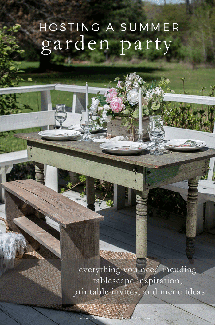 Hosting a summer garden party
