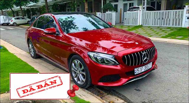 Mercedes C200 2015 đã qua sử dụng màu Đỏ nội thất màu Kem