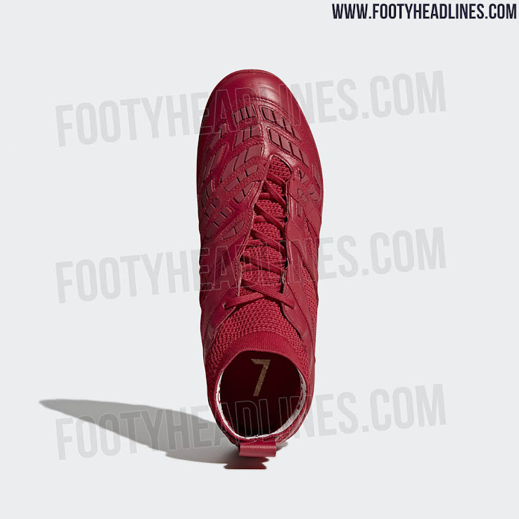 new product 68e48 27710 The all-red Adidas Predator Accelerator Beckham Capsule Collection boots  have a Primeknit upper with Kangaroo leather and rubber elements for more  screw, ...