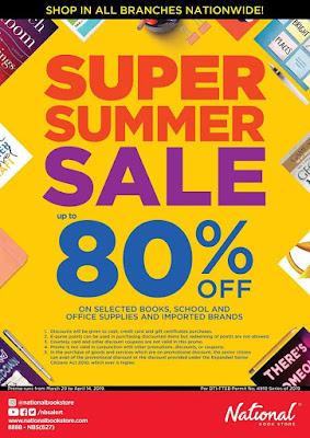 ae2c4566c0a28c National Book Store Super Summer SALE  til Apr 2019