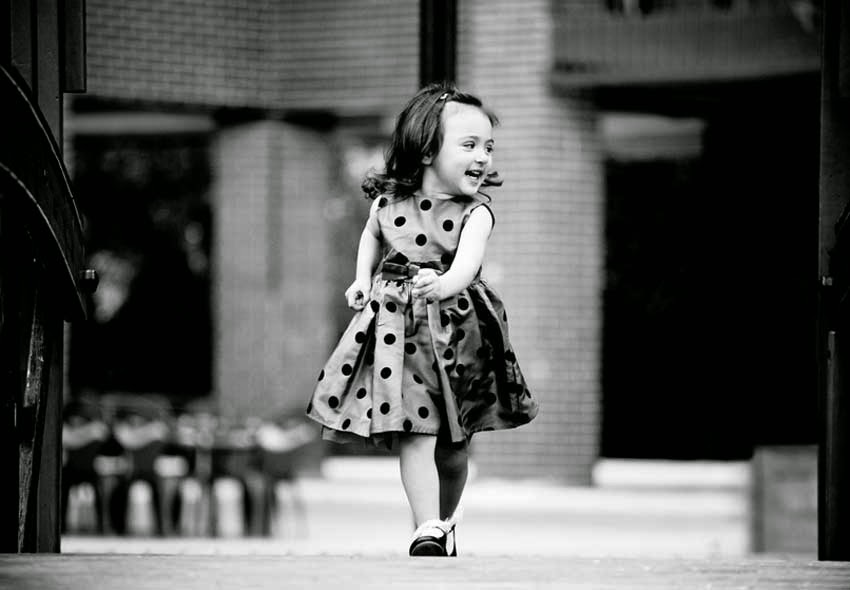 Joyful Child Walking Wallpaper