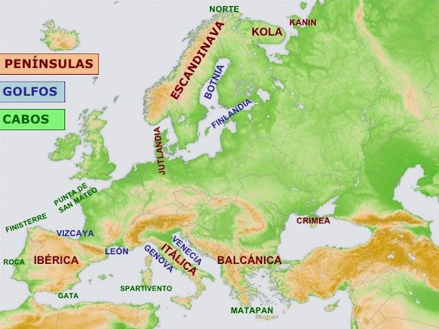Resultado de imagen de RELIEVE DE COSTA EUROPA