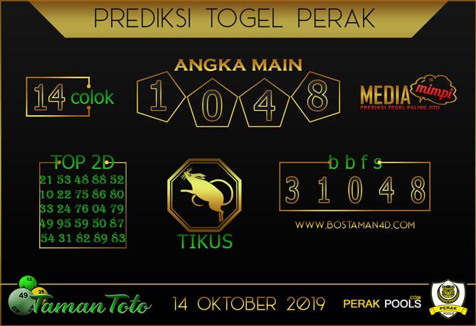 Prediksi Togel PERAK TAMAN TOTO 14 OKTOBER 2019