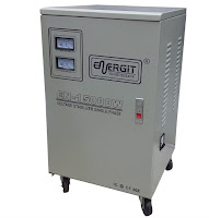 Estabilizador solido de 15000W 15 kW / 15 kVA - 220vac - Marca Energit. Ideal para equipos de sonido QSC, ya que te brinda seguridad ante eventuales variaciones eléctricas; estabilizando desde 170 vac a 250vac.