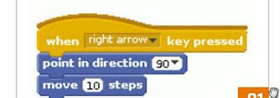 Scratch destra freccia