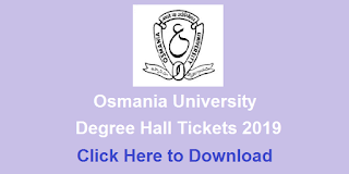 Manabadi OU Degree Hall Tickets 2019 Download