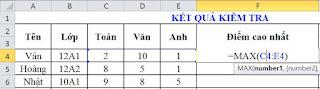 tinhoccoban.net - Hàm Max trong Excel