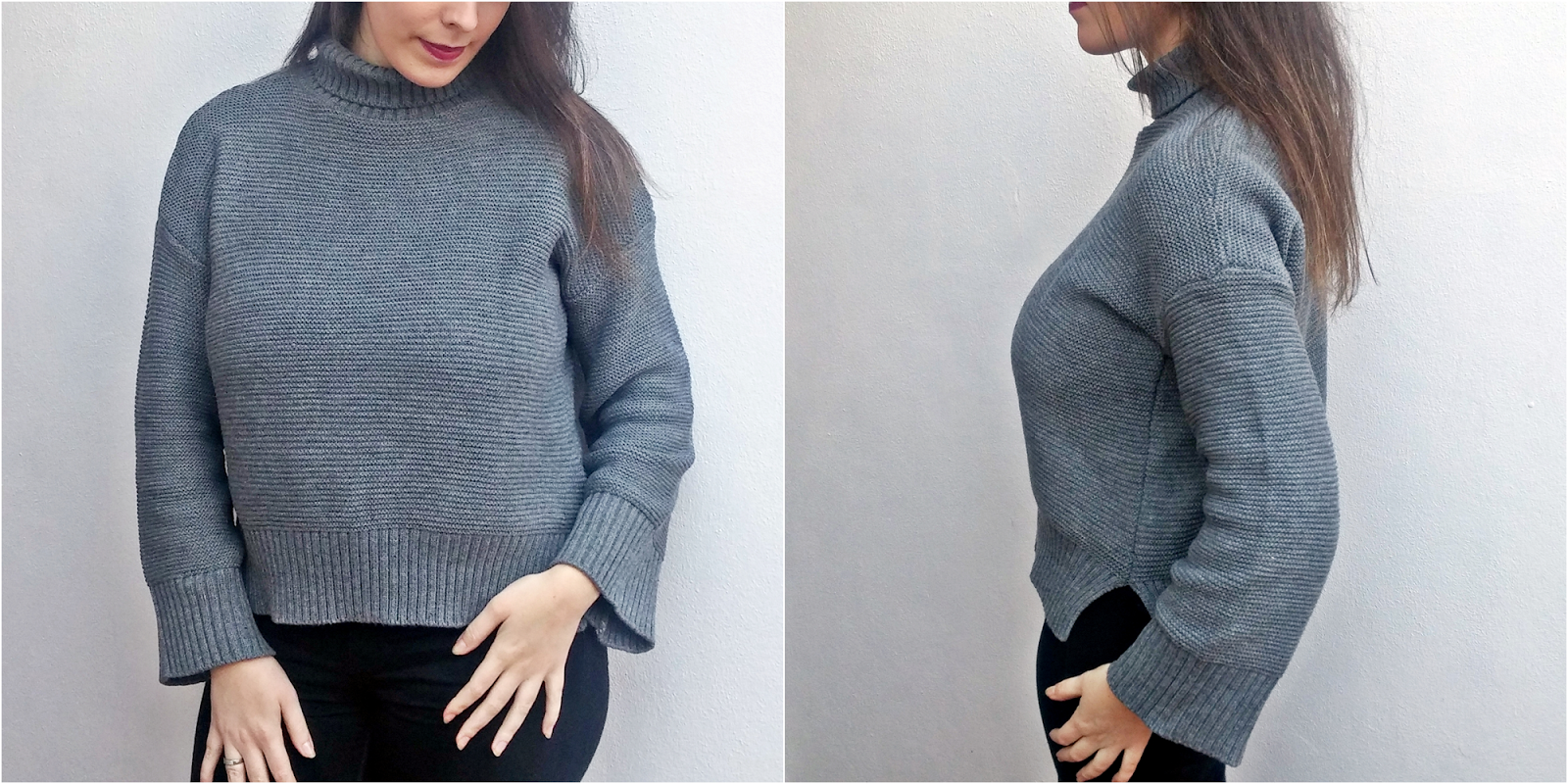 Zaful Oversized Turtle Neck Sweater