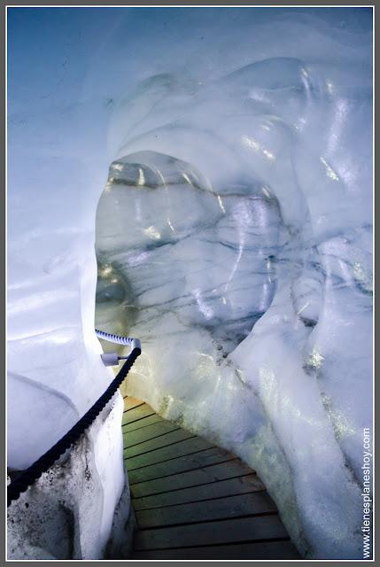 Cueva de hielo Glaciar de Stubai (Eisgrotte Austria)