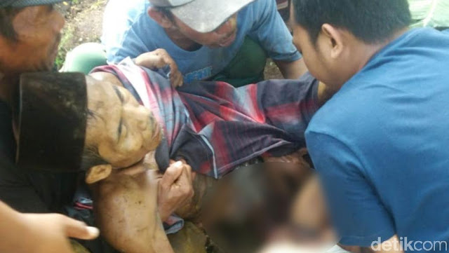 Lagi Bersihkan Kebun, Guru Ngaji di Pasuruan Terkapar Dilempar Bom Ikan