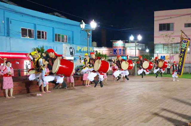 dance, drums, Eisa, night, Okinawa