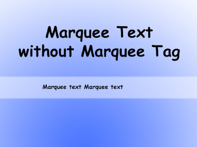 Marquee Text Without Marquee Tag Using Javascript