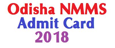 Odisha NMMS Admit Card 2018