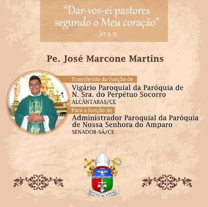 Mudança de padres na região, Em Senador Sá, Marcone Martins assumirá a paróquia. Confira!